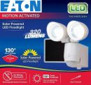 MST1301LW Eaton MST1301LW 130 Degrees Motion Sensor Twin Head Solar LED Floodlight - WHITE